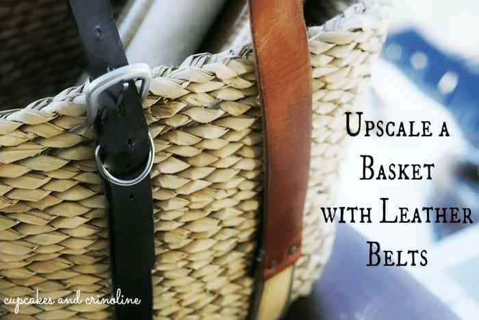 How to Upcycle a Basket with Old Leather Belts