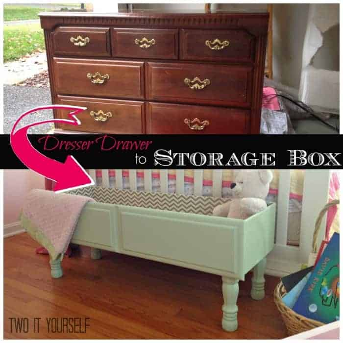 dresser drawer to storage box square