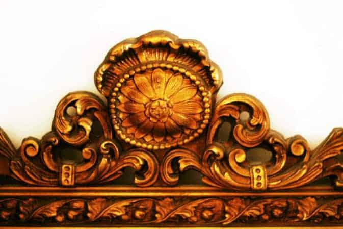 Antique-Mirror-Spring-Corner #antique #mirror