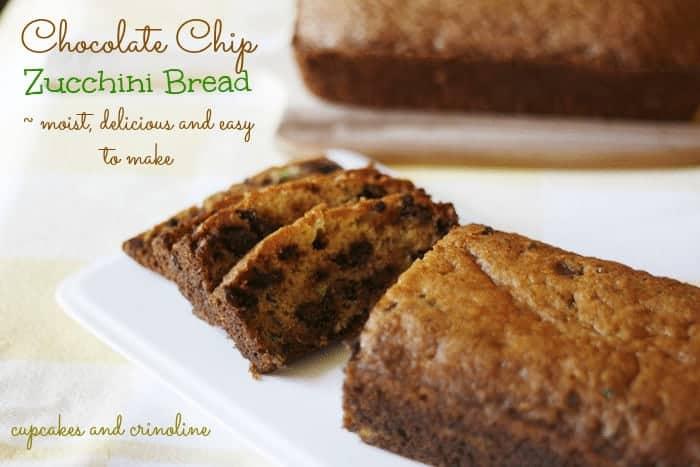 Chocolate-chip-zucchini-bread #zucchini #bread #chocolatechips