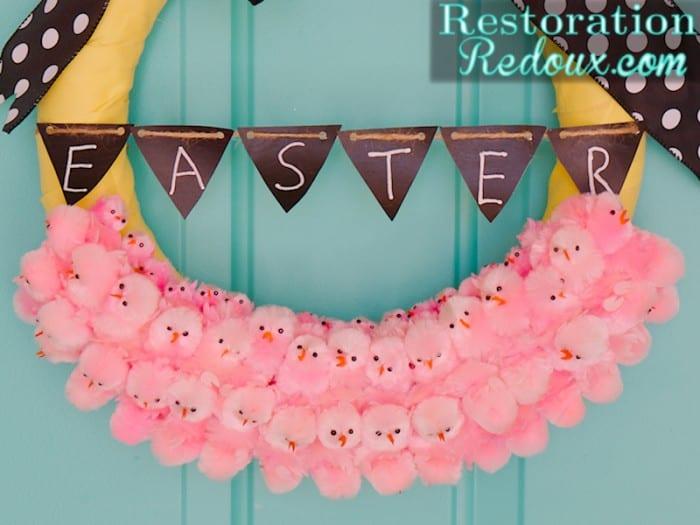 Easter-Peeps-Wreath-RestorationRedoux