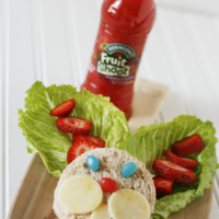 How-to-pack-a-fun-lunch-bunny-sandwich #Fruitshoot #fuelyourimagination #bunnysandwich #Easter #spring #sp
