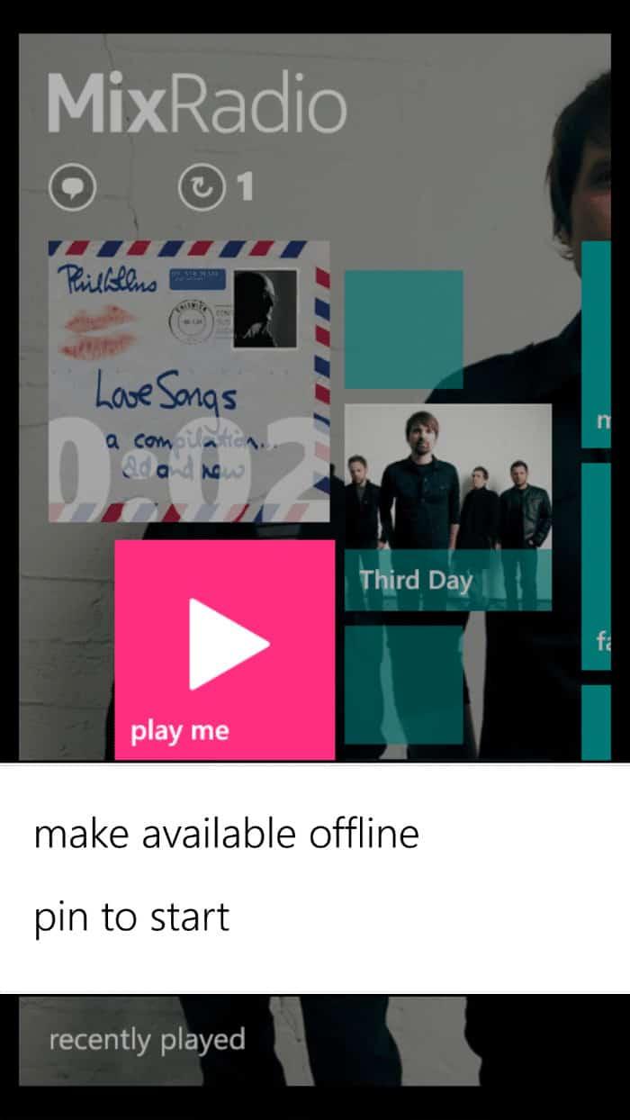 Nokia-MixRadio-Play-offline-pin-to-start