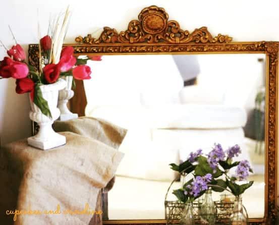 Antique Gilded Baroque Mirror