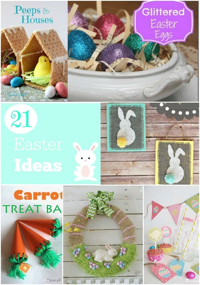 Collage of Easter Crafts