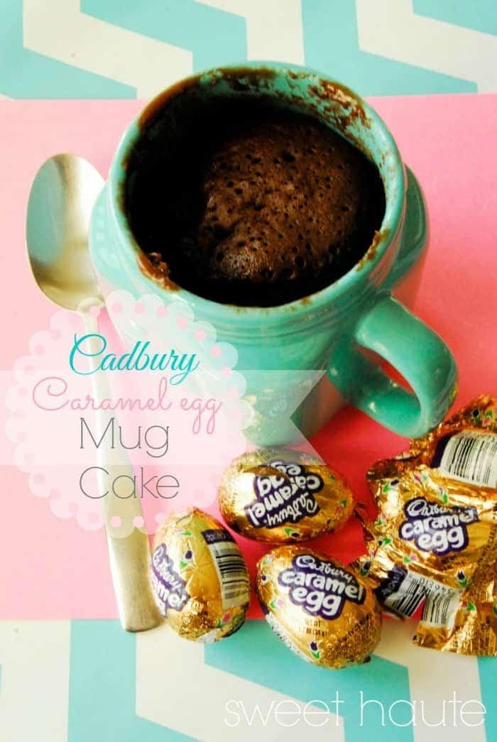 Cadbury Caramel Egg Mug Cake- SWEET HAUTE