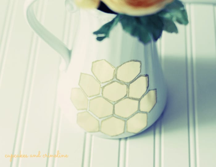 Gilded-Honeycomb-Pitcher
