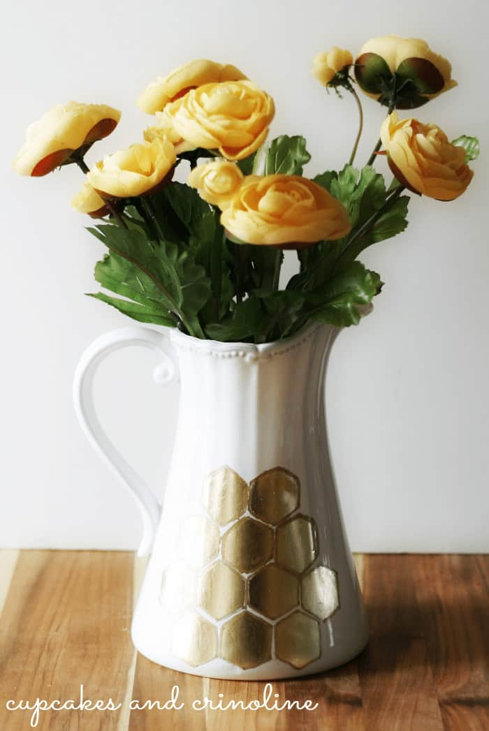 Gilded Honeycomb Pitcher-alone