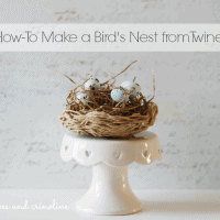 How-To-Make-a-Twine-Nest #twine #nest cupcakes-and-crinoline #cupcakes #crinoline