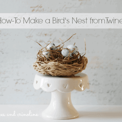 How-To Make a Nest from Twine