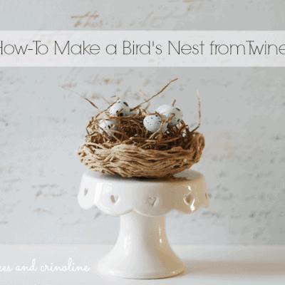 How-To-Make-a-Twine-Nest #twine #nest cupcakes-and-crinoline #cupcakes #crinoline