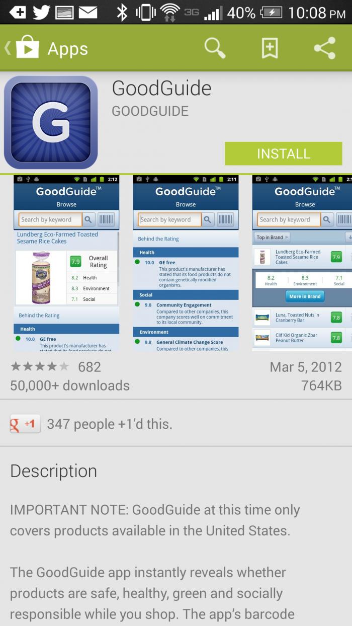 GoodGuide-android-app #HTCOne #VZWBuzz #ad