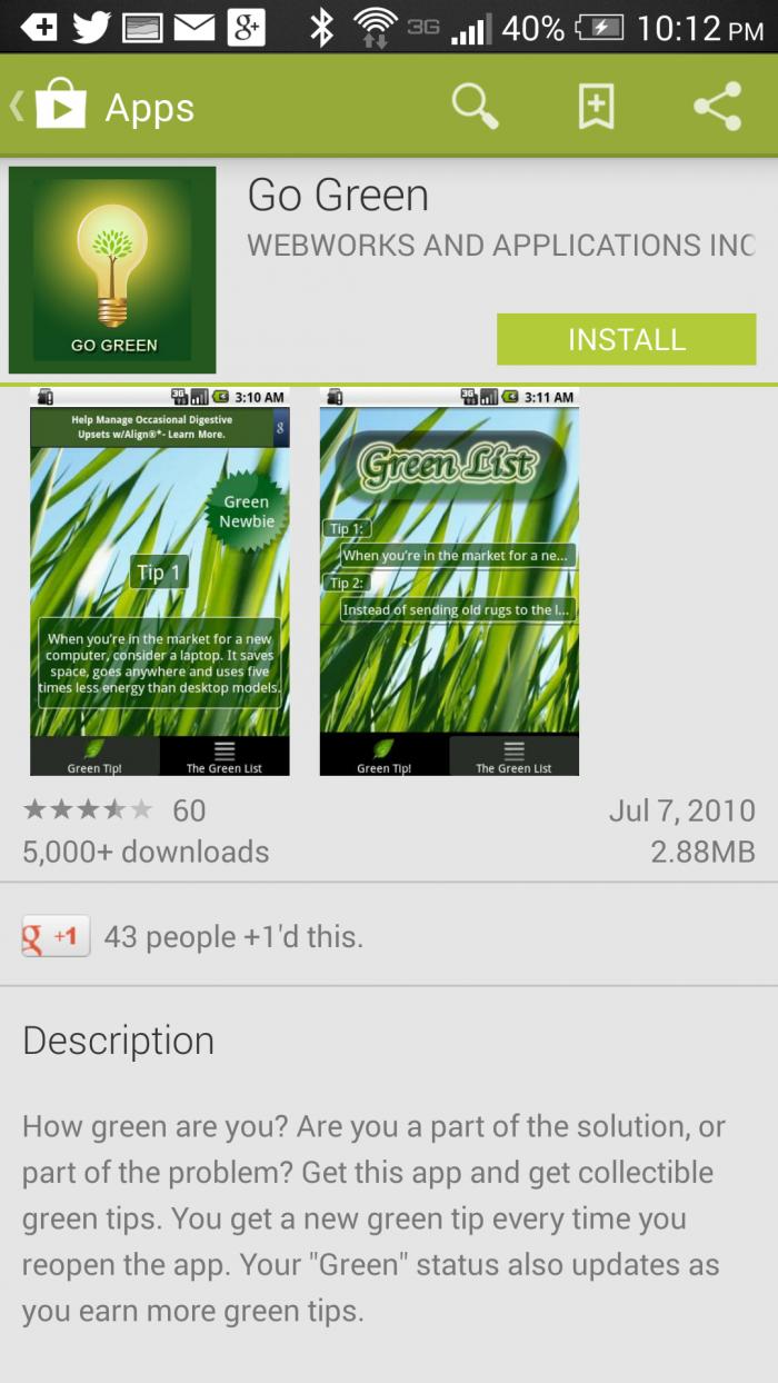 go-green-app #HTCOne #VZWBuzz #ad