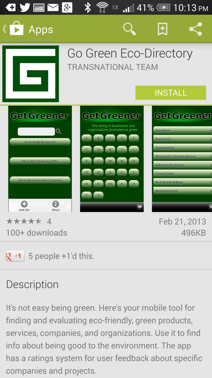 Go-Green-android-app #HTCOne #VZWBuzz #ad