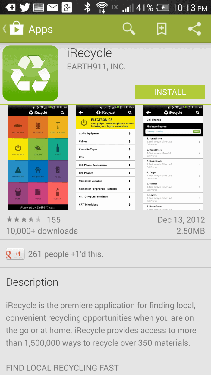 iRecycle #HTCOne #VZWBuzz #ad