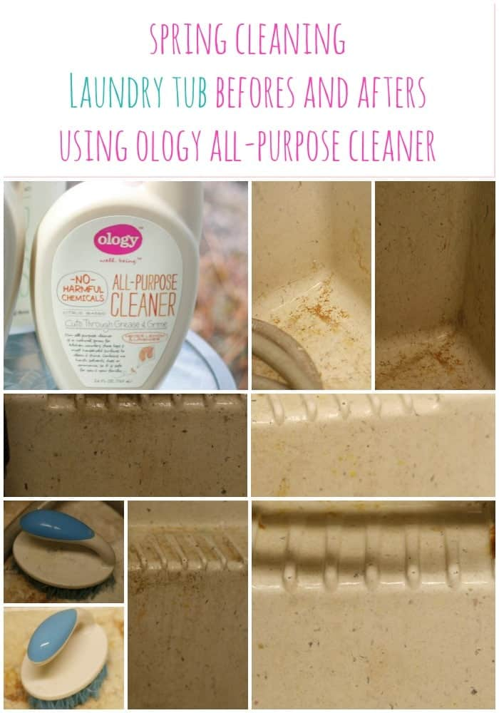 Spring Cleaning Laundry Tub Befores and Afters Using Ology All Purpose Cleaner #WalgreensOlogy #Shop