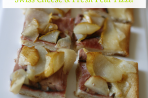 Swiss Cheese and Pear Pizza #lifeingredients #sp