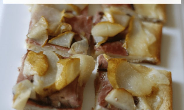 Pear Pizza Made with Alpine Lace® Reduced Fat Swiss Deli Cheese