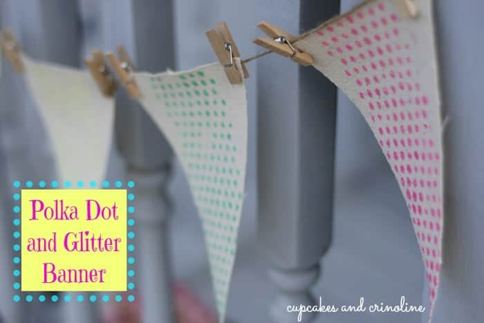 Polka Dot and Glitter Banner