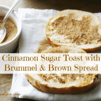 Cinnamon Sugar Toast with Brummel & Brown Spread #BRUMMELBROWN #AD