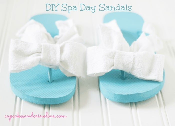 DIY Spa Day Sandals from cupcakesandcrinoline.com