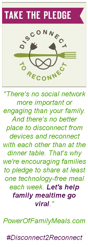 Take The Pledge #Disconnect2Reconnect #ad