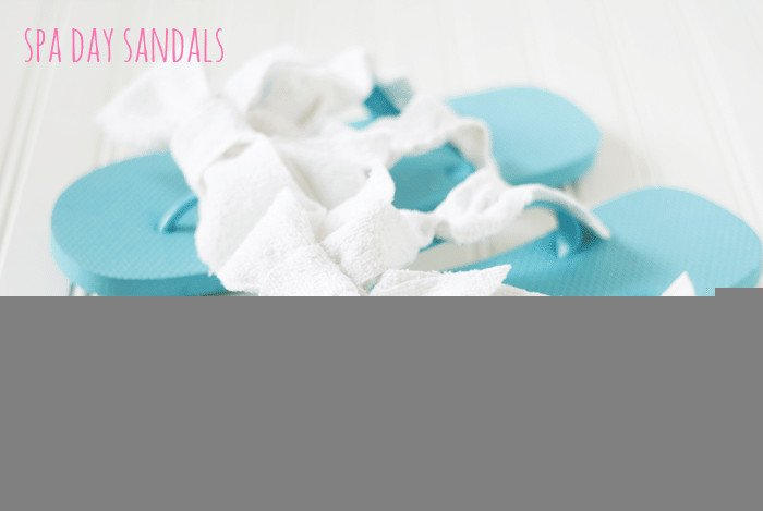 great-group-gift-spa-day-sandals cupcakesandcrinoline.com