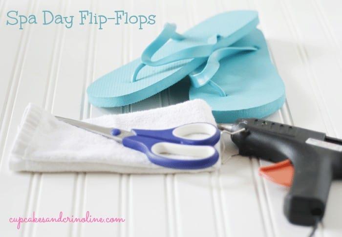 spa-day-flip-flops-supplies