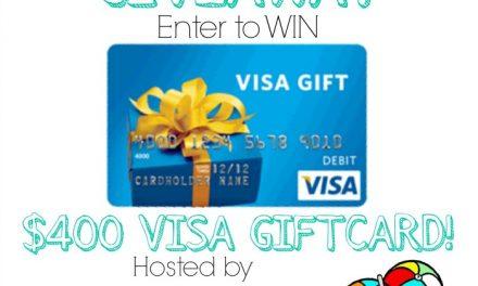 $400 Visa Gift Card Sizzlin' Summer Giveaway