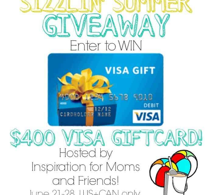 $400 Visa Gift Card Sizzlin' Summer Giveaway