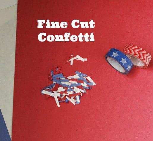Confetti Popper #UltimateRedWhiteAndBlue Fine Cut Confetti