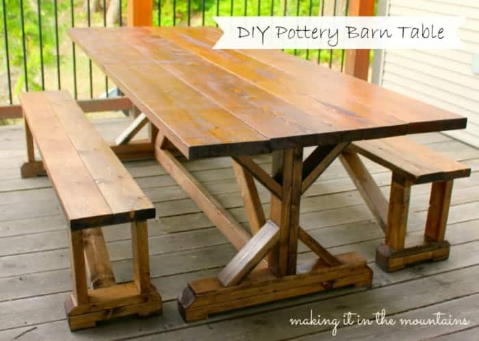 DIY-Pottery-Barn-Table-Knockoff-@-making-it-in-the-mountains