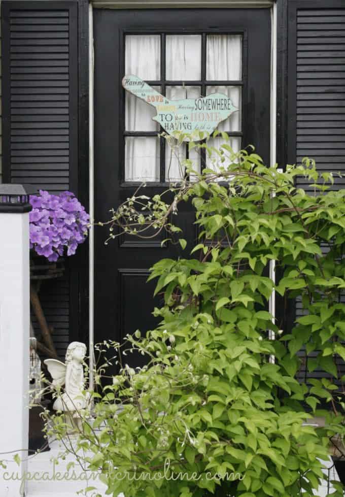 Front Porch Herb Garden Front Door
