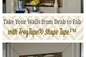 Take Your Walls from Drab to Fab with FrogTape® Shape Tape™ #FrogTape #ad #shapetape