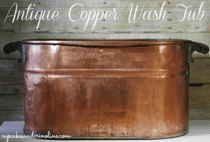Antique-copper-wash-tub from cupcakesandcrinoline.com