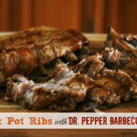 Crock-Pot-Ribs-with-Dr.-Pepper-Barbecue-Sauce-moist-and-tender cupcakesandcrinoline.com