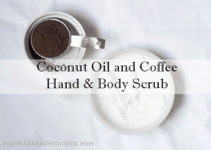 Make and all natural body and hand scrub from coconut oil and leftover coffee grounds.