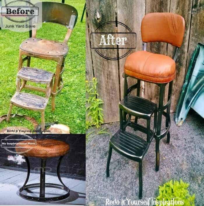 beforeafter inspirational junk stool redoitinspiraitons