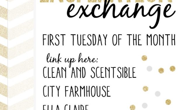 I'm Guest Hosting at The Inspiration Exchange Monthly Link Party