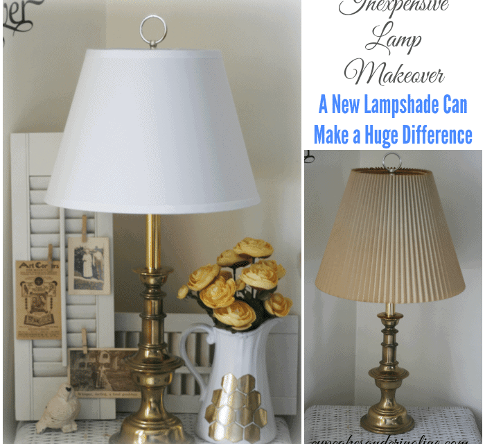 Inexpensive Lamp Makeover