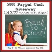 $600 Paypal Cash Giveaway - 3 $200 Dollar Winners