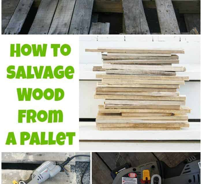 How to Take Apart a Pallet Easily {Free Wood for DIYs}
