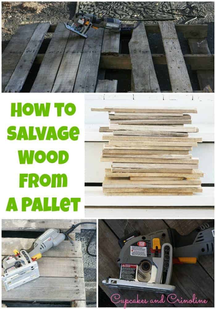 How-to-salvage-wood-from-a-pallet-at-Cupcakes-and-Crinoline  #Rockler AD