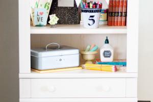 Organize and display with a Library with drawers. It's the perfect combination of functionality and style. #spon
