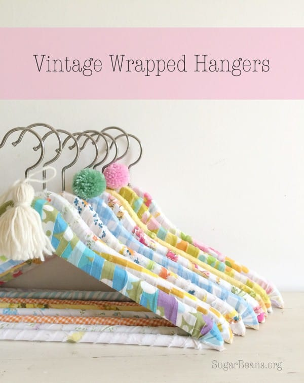 Vintage Wrapped Hangers. SugarBeans