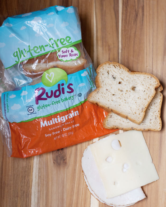 Gluten free sandwich made with Rudi's bread.