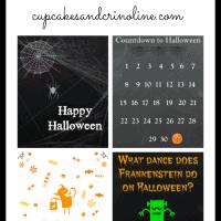 4 Free Halloween Printables from cupcakesandcrinoline.com