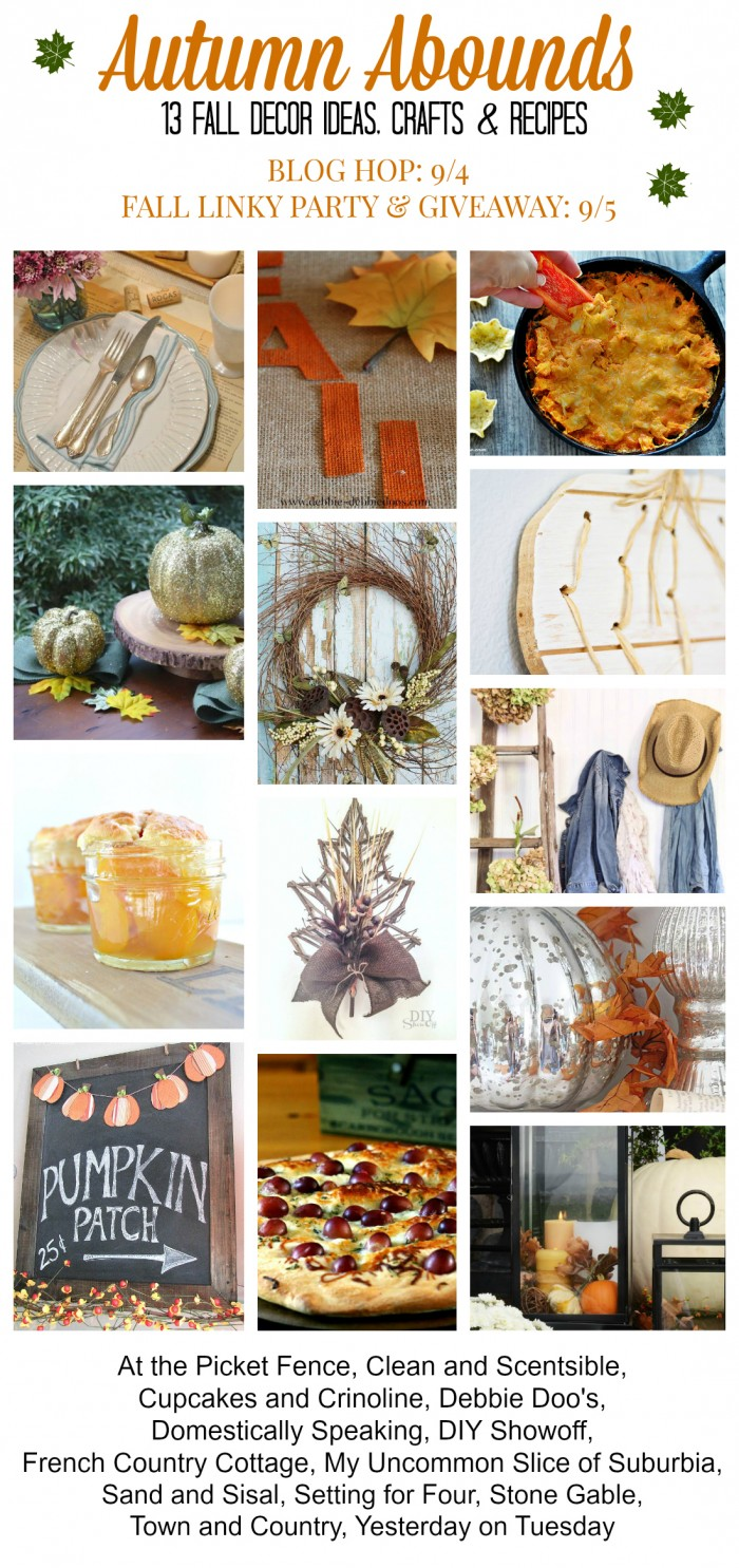 Autumn Abounds Fall Blog Hop, Linky Party and Giveaway. #autumnabounds