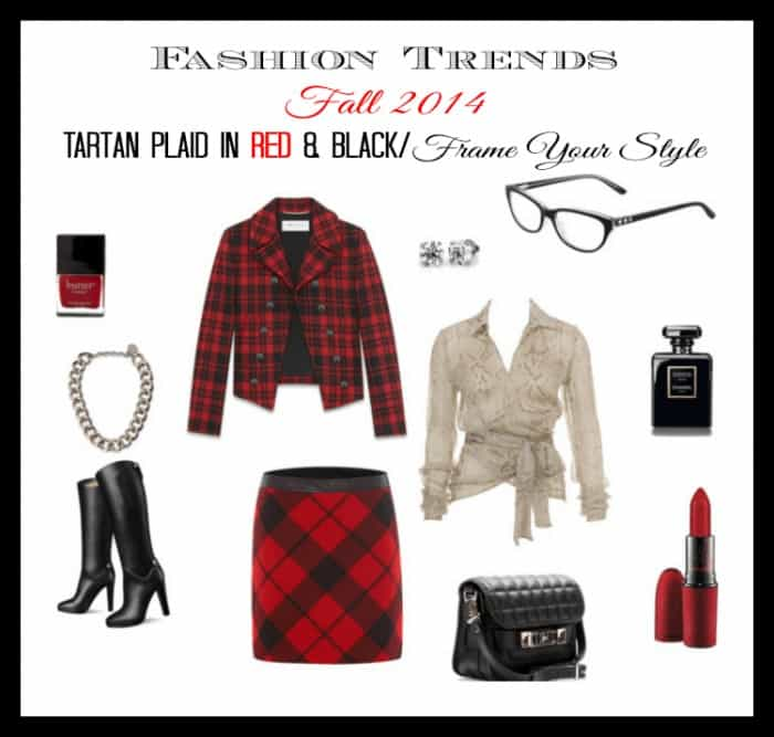 Fashion Trends Fall 2014 Tartan Plaid in Red & Black ~ Frame Your Style #VSPStyle AD