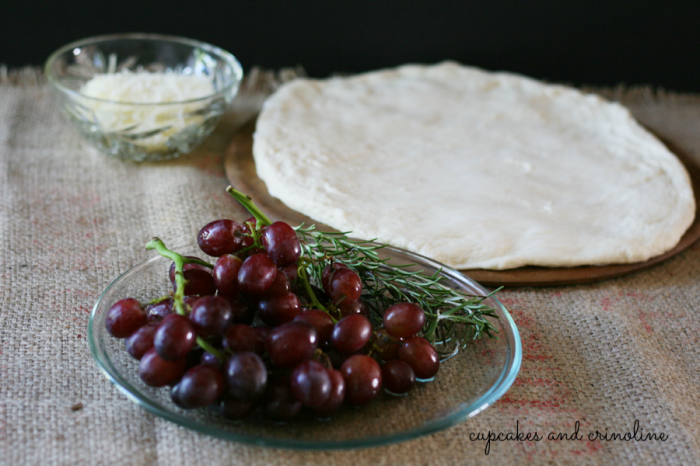 Fresh Rosemary and Grape Focaccia ~ cupcakesandcrinoline.com